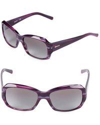 DKNY - 55mm Square Sunglasses - Lyst