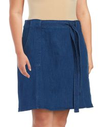 RACHEL Rachel Roy - Denim Pocketed Skirt - Lyst