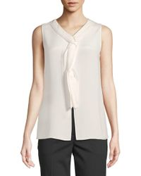 3.1 Phillip Lim - Silk Sleeveless Top - Lyst