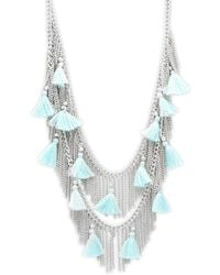 Saks Fifth Avenue - Silvertone Bead And Tassel Necklace - Lyst