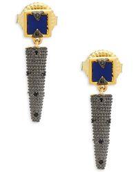 Freida Rothman - Modern Mosaic Lapis Drop Earrings - Lyst