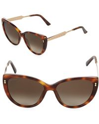 Gucci - 57mm Butterfly Etched Temple Sunglasses - Lyst