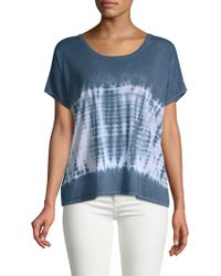 Chaser - Deep Back Scoop Tie-dyed Tee - Lyst