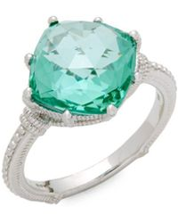 Judith Ripka - Spinal Solitaire Ring - Lyst