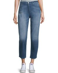 7 For All Mankind - Faded Ankle Jeans - Lyst