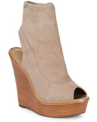 Schutz - Vanda Wedge Booties - Lyst