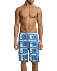 Tommy Bahama - Baja Plaid Swim Trunks - Lyst