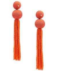 Kenneth Jay Lane - Ball Tassle Drop Earrings - Lyst