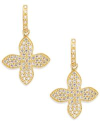 Freida Rothman - Pavé Flower Drop Earrings - Lyst