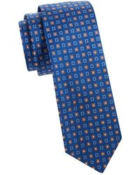 Saks Fifth Avenue Square Print Silk Tie