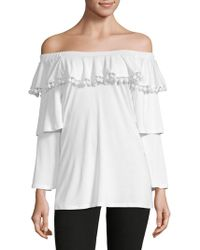 Love Scarlett - Tiered-sleeve Off-the-shoulder Top - Lyst
