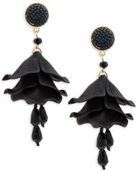 Natasha Couture - Beaded Floral Drop Earrings - Lyst