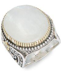 Konstantino - Labradorite & Sterling Silver Solid Fill Ring - Lyst