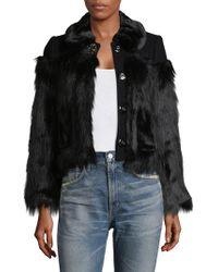 Marc Jacobs - Faux Fur Button Jacket - Lyst