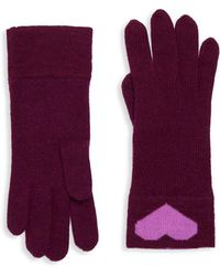 Portolano - Heart Rabbit Hair Gloves - Lyst