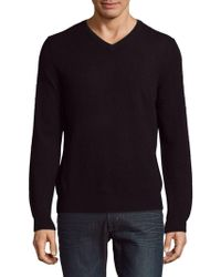 Saks Fifth Avenue Black - Knitted Cashmere Sweater - Lyst