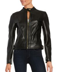 Cole Haan - Quilted Italian Leather Jacket - Lyst