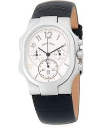 Philip Stein - Stainless Steel Chronograph Leather-strap Watch - Lyst