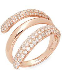 Effy - Diamond And 14k Rose Gold Ring - Lyst