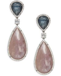 Marco Bicego - Unico Diamond, Sapphire & 18k Gold Earrings - Lyst