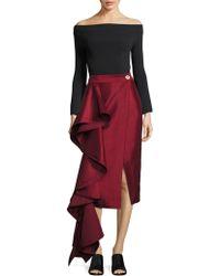Solace London - Aideen Cascade Pencil Skirt - Lyst