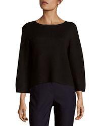 Saks Fifth Avenue Black - Flare Sleeve Top - Lyst