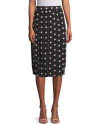 Marc Jacobs - Polka Dot Silk Knee-length Skirt - Lyst