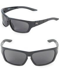 PUMA - 59mm Wrap Sunglasses - Lyst