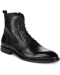 Bacco Bucci - Gabi Leather Ankle Boots - Lyst