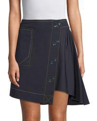 Derek Lam - Button Front A-line Skirt - Lyst