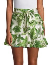 Lea & Viola - Tropical Tie Waist Skirt - Lyst