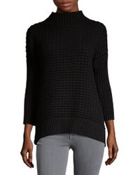 French Connection - Ribbed Mockneck Cotton Sweater - Lyst