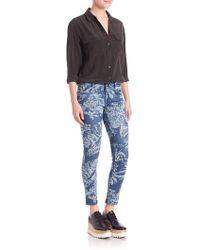 Stella McCartney - Tiger-print Skinny Ankle Jeans - Lyst