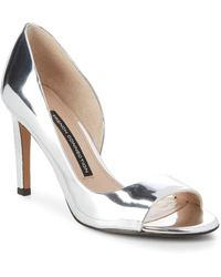 French Connection - Metallic Peep Toe Court Shoes - Lyst