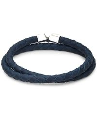 Miansai - Sterling Silver And Leather Double Wrap Bracelet - Lyst