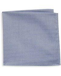 Hickey Freeman - Geometric Dobby Cotton Handkerchief - Lyst