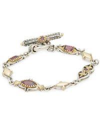 Konstantino - Artemis Rhodolite Garnet, Sterling Silver & 18k Yellow Gold Link Bracelet - Lyst