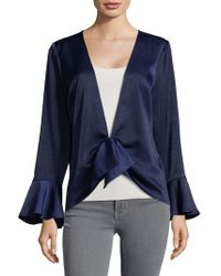 Plenty by Tracy Reese - Bell-cuffs Draped Top - Lyst