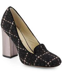 Bettye Muller - Ballard Plaid Block-heel Court Shoes - Lyst