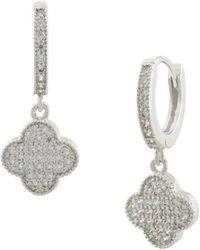 Saks Fifth Avenue - Jankuo Crystal Drop Earrings - Lyst