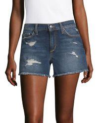 Joe's Jeans - Distressed Denim Shorts - Lyst