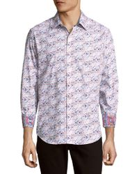 Robert Graham - Passaic Cotton Button-down Shirt - Lyst