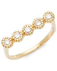 Saks Fifth Avenue - 14k Yellow Gold & Diamond Ring - Lyst
