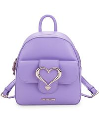 Love Moschino - Heart Top Zip Backpack - Lyst