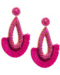 Panacea - Beaded Tassel Earrings - Lyst