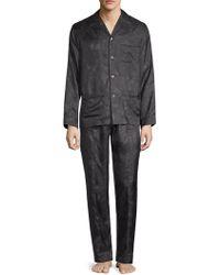 Valentino - Two-piece Floral Silk Pajama Set - Lyst