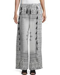 Raga - Printed Wide-leg Pants - Lyst