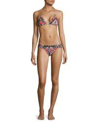OndadeMar - Mandalay Low-rise Ruched Bikini Bottom - Lyst