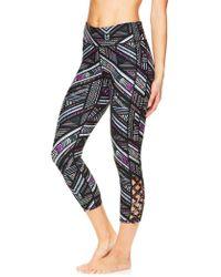 Gaiam - Shilo Printed Crisscross Capri Leggings - Lyst