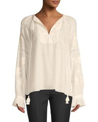 Love Sam - Embroidered Long-sleeve Top - Lyst